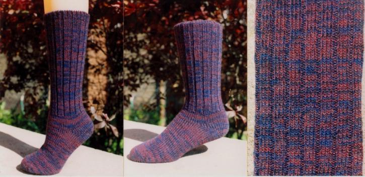 Classic Socks - Purple Marble