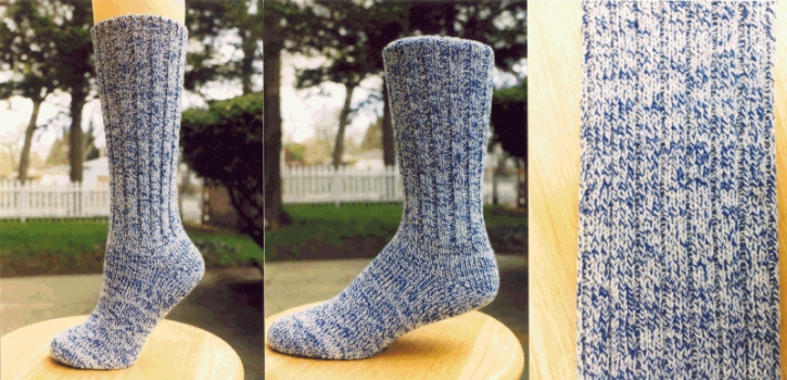 Classic Socks - Denim Blues