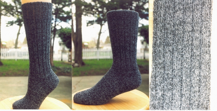 Classic Socks - Grey Tweed