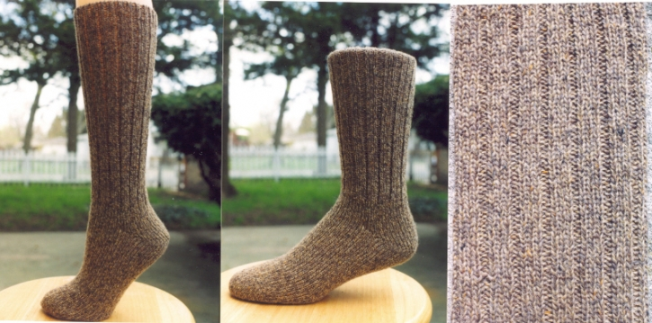 Classic Socks - Tan Tweed